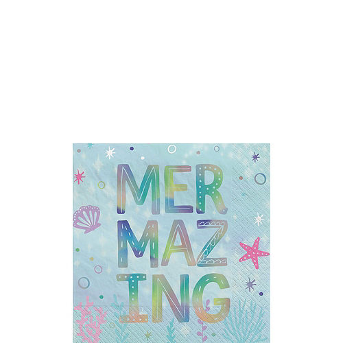 Iridescent Shimmering Mermaids Birthday Party Kit for 8 Guests Image #4