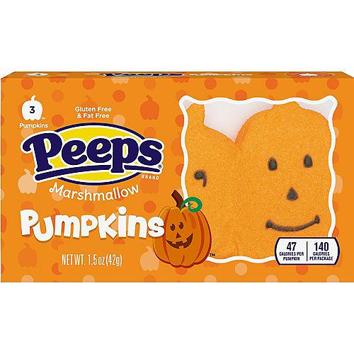 Peeps Pumpkins, 3pc - Halloween Marshmallow Candy Image #1