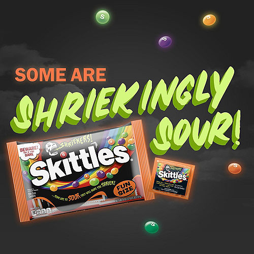 Skittles Shriekers Fun Size Packs, 10.72oz - Halloween Candy Image #2