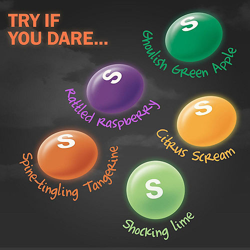 Skittles Shriekers Fun Size Packs, 10.72oz - Halloween Candy Image #3