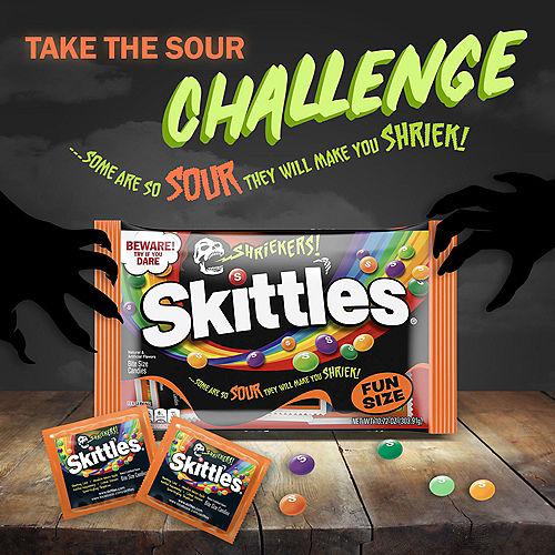 Skittles Shriekers Fun Size Packs, 10.72oz - Halloween Candy Image #4