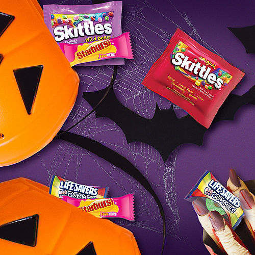 Skittles, Starburst, & Lifesavers Fun Size Variety Bag, 80pc - Day of the Dead Candy Image #5