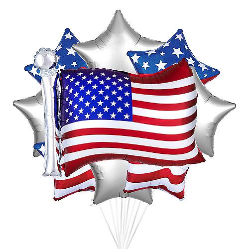 American Flag Balloon Bouquet, 6pc Image #1
