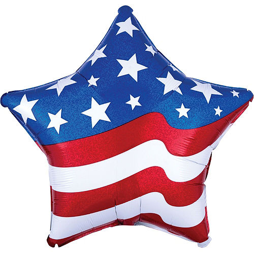 American Flag Balloon Bouquet, 6pc Image #3