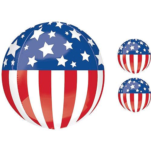 Patriotic American Flag Balloon Bouquet, 12pc Image #5