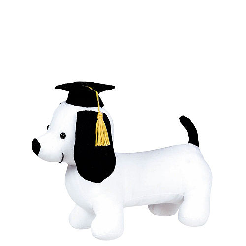 Congrats Grad Cap Balloon Bouquet & Autograph Dog Plush Graduation Gift Kit, 6pc Image #2