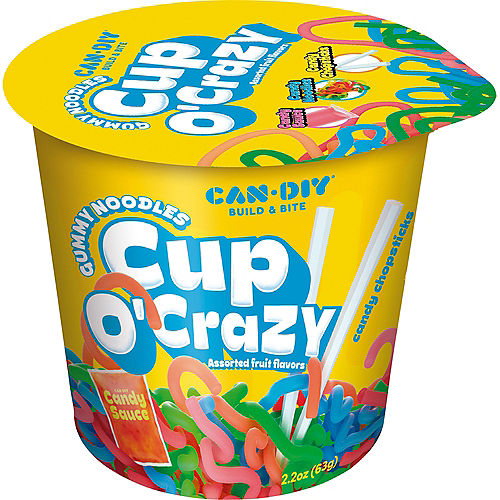 Cup o' Crazy Gummy Noodles with Candy Sauce & Candy Chopsticks, 2.2oz Image #1