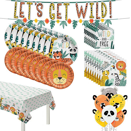Get Wild Jungle Party Kit for 8 Guests Image #1