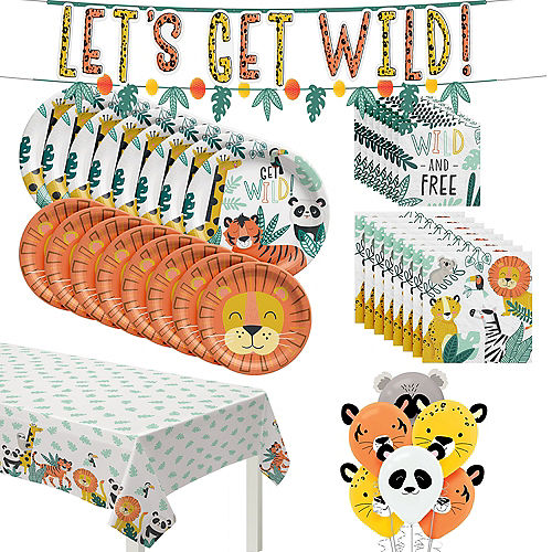 Get Wild Jungle Birthday Party Kit for 16 Guests Image #1