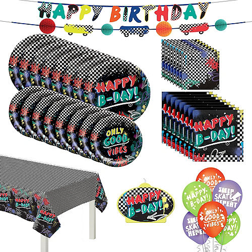 Skater Party Birthday Party Kit for 8 Guests Image #1