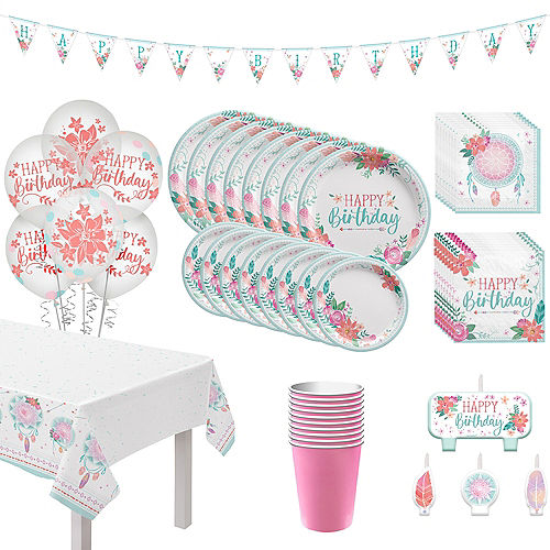 Free Spirit Boho Birthday Party Kit for 8 Guests Image #1