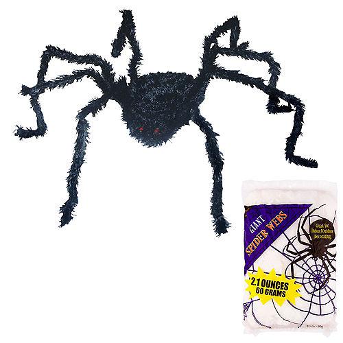 Light-Up Spider & Web Halloween Decorating Kit Image #1