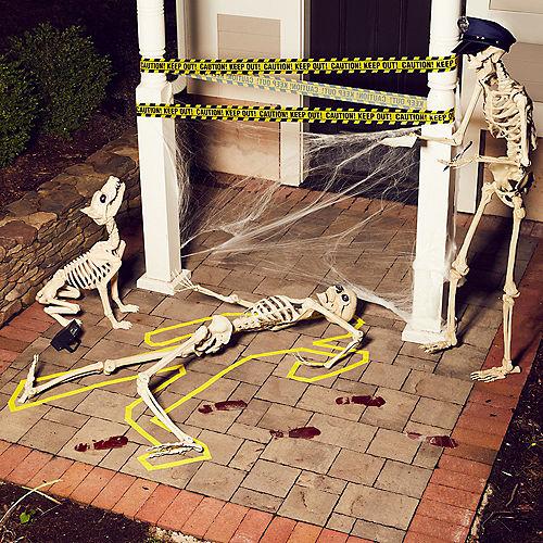 Strobe Light Crime Scene Halloween Decorating Kit Image #2