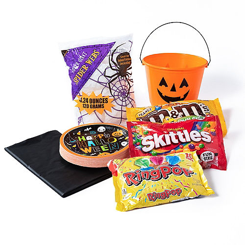 Jack-o'-Lantern Candy Bucket Centerpiece Kit Image #1
