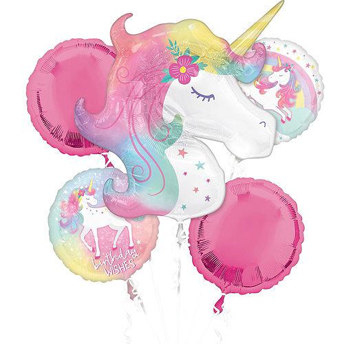 Enchanted Unicorn Foil & Plastic Balloon Bouquet, 8pc Image #2