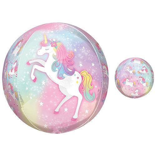 Enchanted Unicorn Foil & Plastic Balloon Bouquet, 8pc Image #3