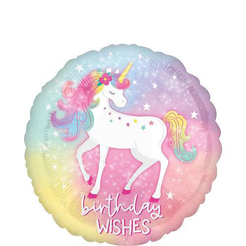 Enchanted Unicorn Foil & Plastic Balloon Bouquet, 8pc Image #4