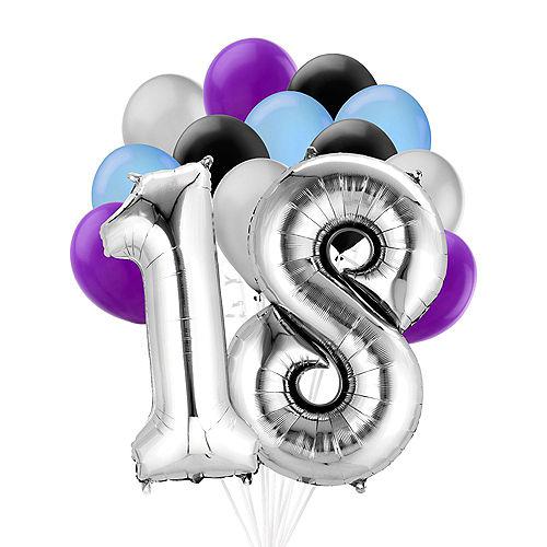 Premium Finally 18 Balloon Bouquet, 14pc Image #1