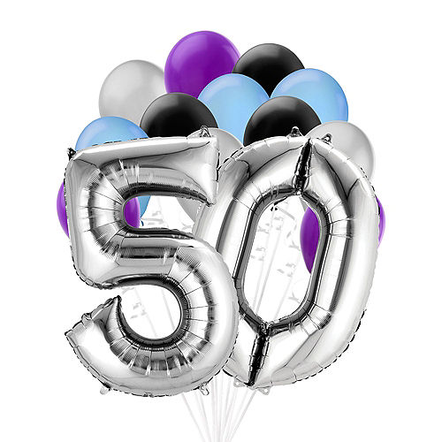 Premium Finally 50 Balloon Bouquet, 14pc Image #1