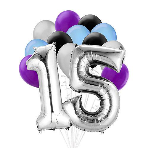 Premium Finally 15 Balloon Bouquet, 14pc Image #1