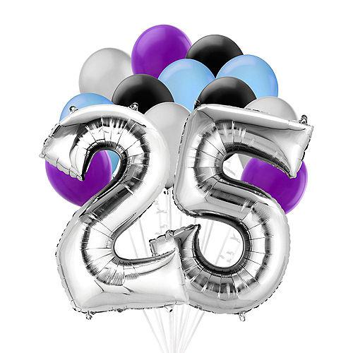 Premium Finally 25 Balloon Bouquet, 14pc Image #1