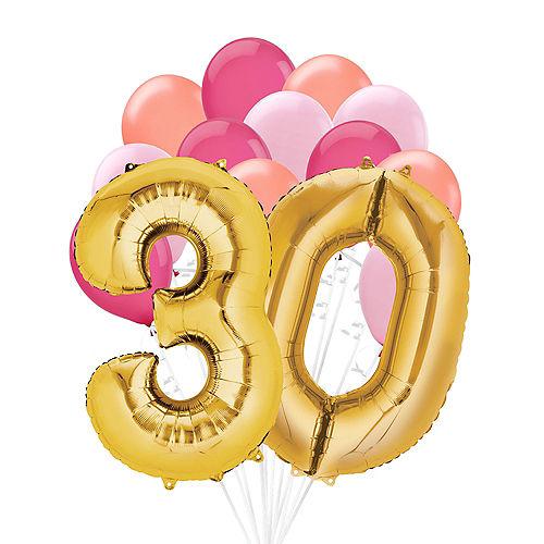 Premium Pink & Gold Blush 30 Balloon Bouquet, 14pc Image #1