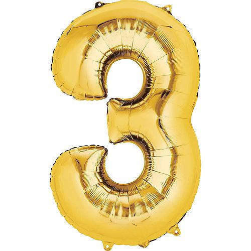 Premium Pink & Gold Blush 13 Balloon Bouquet, 14pc Image #3