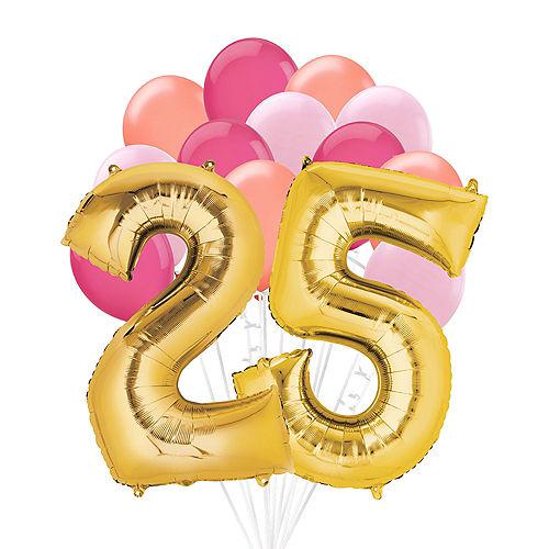 Premium Pink & Gold Blush 25 Balloon Bouquet, 14pc Image #1