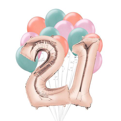 Premium Happy 21 Balloon Bouquet, 14pc Image #1