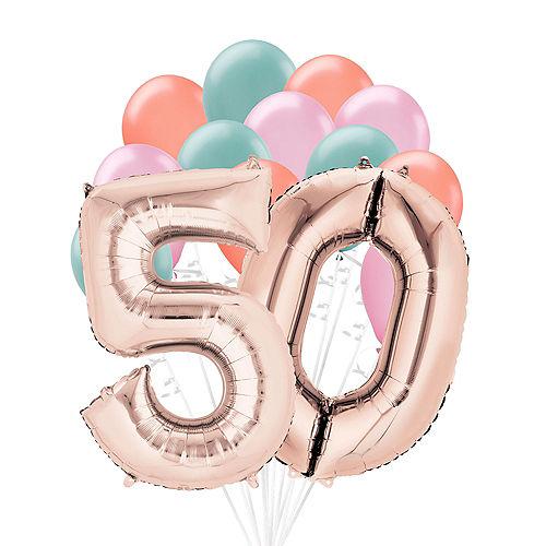 Premium Happy 50 Balloon Bouquet, 14pc Image #1