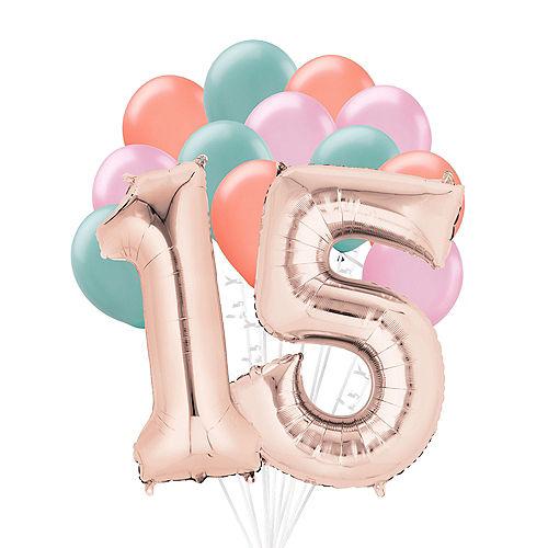 Premium Happy 15 Balloon Bouquet, 14pc Image #1