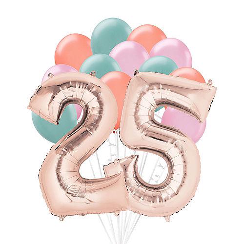 Premium Happy 25 Balloon Bouquet, 14pc Image #1