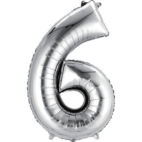 Premium Rainbow & Silver 16 Balloon Bouquet, 14pc Image #3