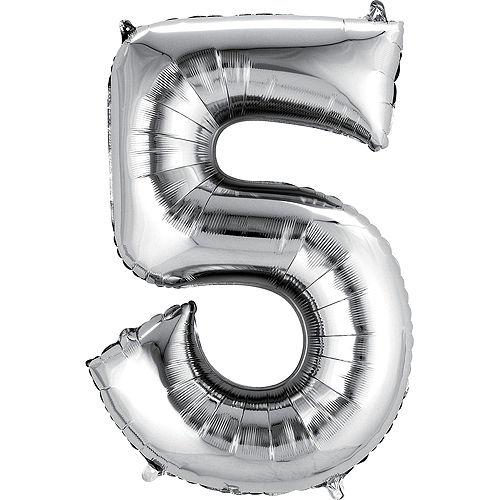Premium Rainbow & Silver 50 Balloon Bouquet, 14pc Image #3