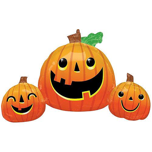 Friendly Jack-o'-Lanterns Halloween Balloon Bouquet, 5pc Image #4