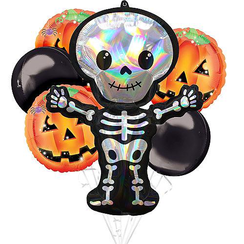 Premium Jack-o'-Lantern & Skeleton Halloween Balloon Bouquet, 6pc Image #1