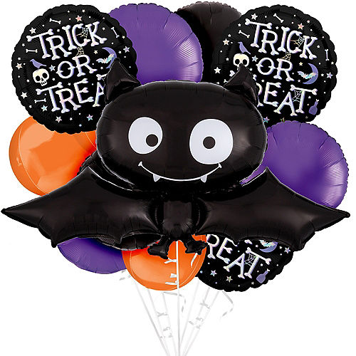 Deluxe Bat Trick-or-Treat Balloon Bouquet, 11pc Image #1