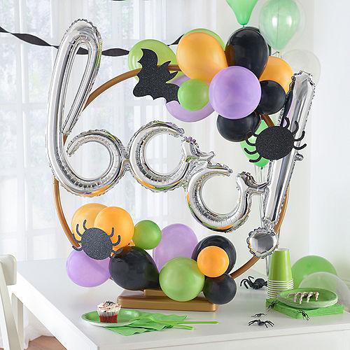 Air-Filled Orange, Black, Green & Purple Boo Halloween Tabletop or Hangable Balloon Hoop Kit Image #1