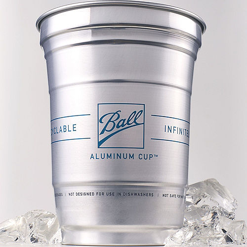 Ball Aluminum Cup™, 16oz, 24ct - The Ultimate 100% Recyclable Cold-Drink Cup Image #3