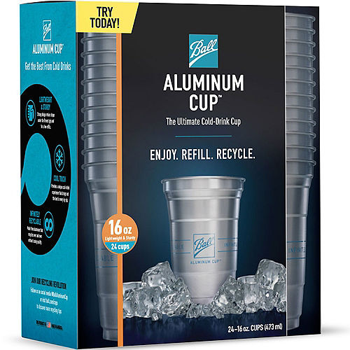 Ball Aluminum Cup™, 16oz, 24ct - The Ultimate 100% Recyclable Cold-Drink Cup Image #5