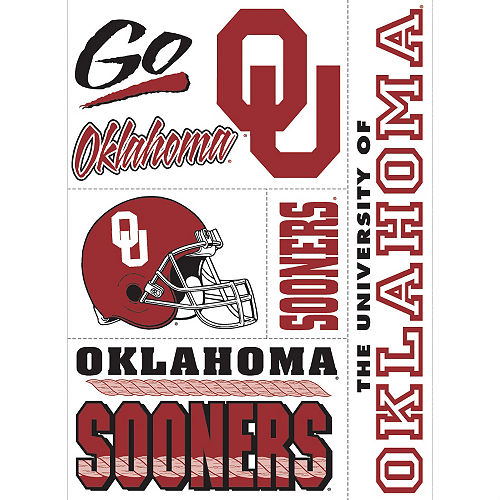 Oklahoma Sooners Cling Decals 5ct Image #1