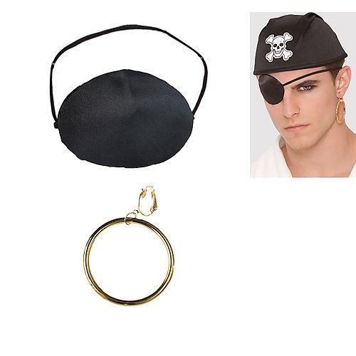 Pirate Earring & Eye Patch Set Image #1