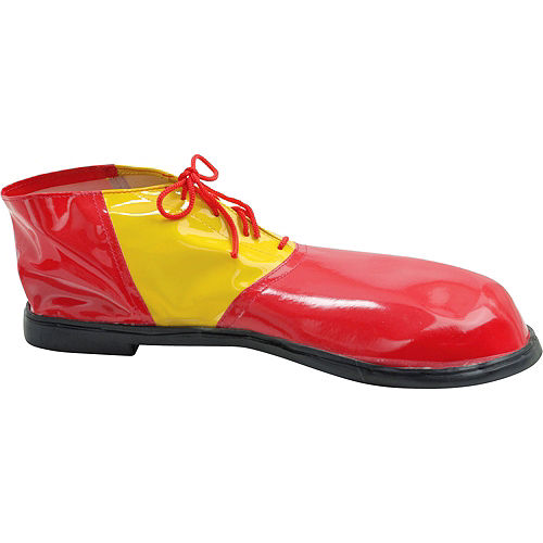 Adult Red & Yellow Clown Shoes Deluxe Image #2