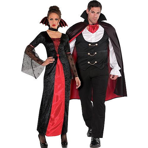 Adult Countess Vampiretta Vampire & True Vampire Couples Costumes Image #1