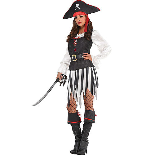 Adult High Sea Sweetheart Pirate & Rebel of the Sea Pirate Couples Costumes Image #2