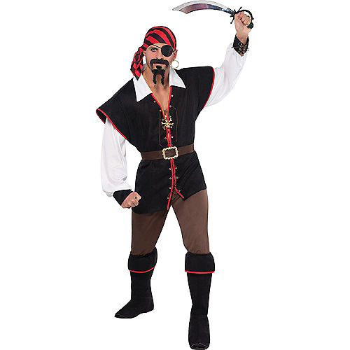 Adult High Sea Sweetheart Pirate & Rebel of the Sea Pirate Couples Costumes Image #3