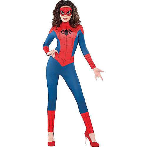 Adult Sexy Spider-Girl Catsuit & Spider-Man Partysuit Couples Costumes Image #2