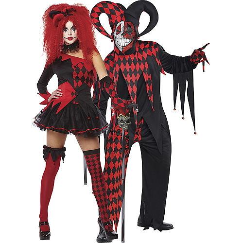 Adult Jesterina & Krazed Jester Couples Costumes Image #1