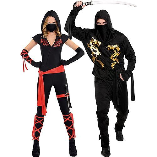 Adult Ninja Couples Costumes Image #1