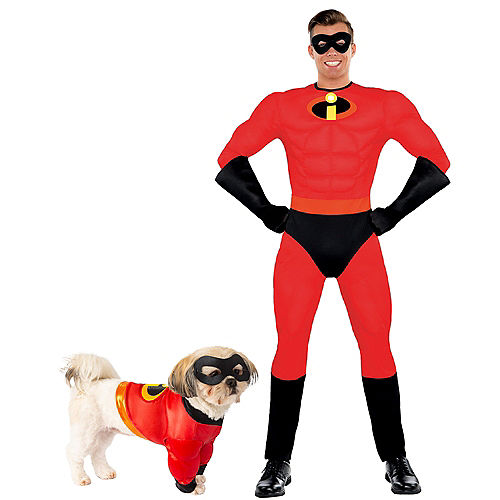Adult Mr. Incredible Muscle & Incredibles Doggy & Me Costumes - The Incredibles Image #1